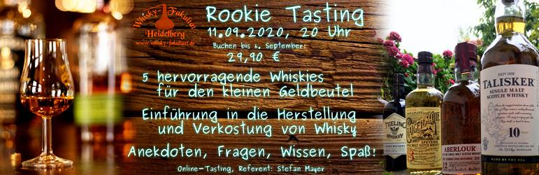 Rookie Tasting am 11. September 2020
