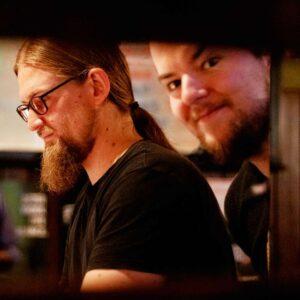 Die beiden Inhaber der Whisky-Fakultät